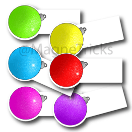 Christmas gift labels – baubles
