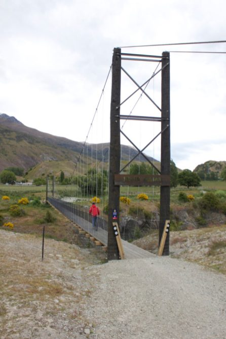 Mountain biking bridge Queenstown