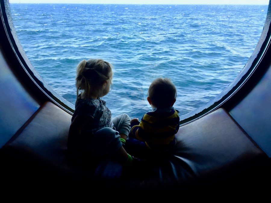 Kids in the porthole