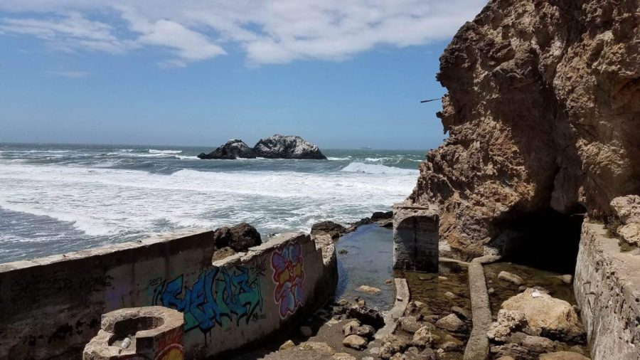 Sutro Baths and the Pacific Ocean