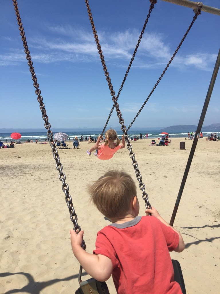 Swinging on Pismo Beach