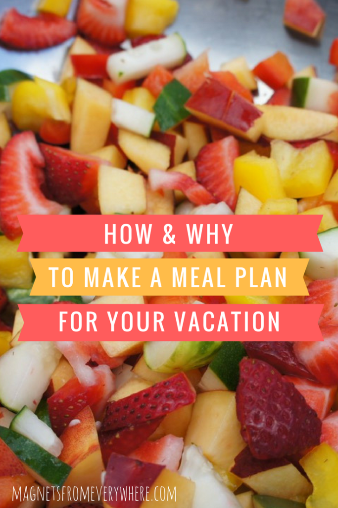 Vacation home meal plan