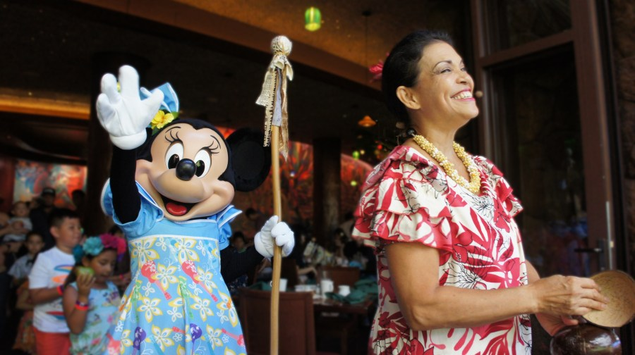Minnie Mouse and Aunty