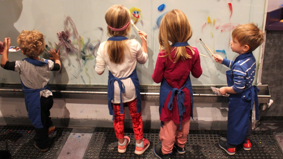 Painting at the Children's Museum of Atlanta