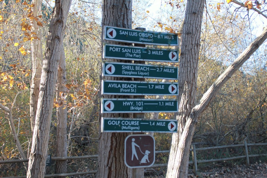 Bob Jones Trail Signpost
