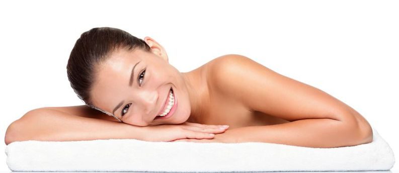 a woman who uses pro skin care products available from MagnifaSkin medical spa