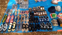 Leather goods, Chappals and Hats at Matheran