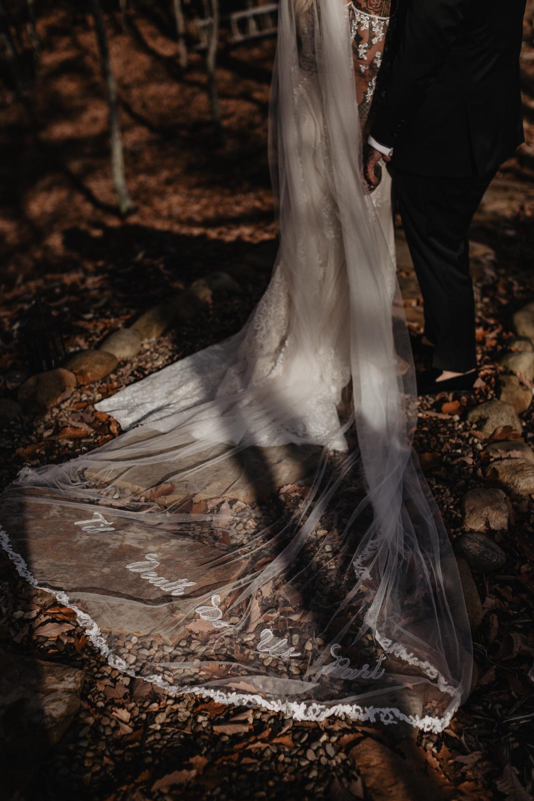 til death do us part wedding veil