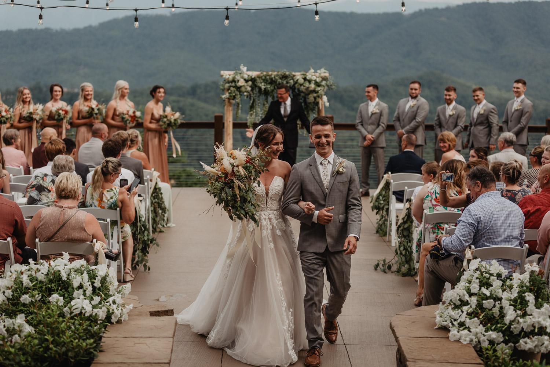 wedding ceremony at the magnolia venue