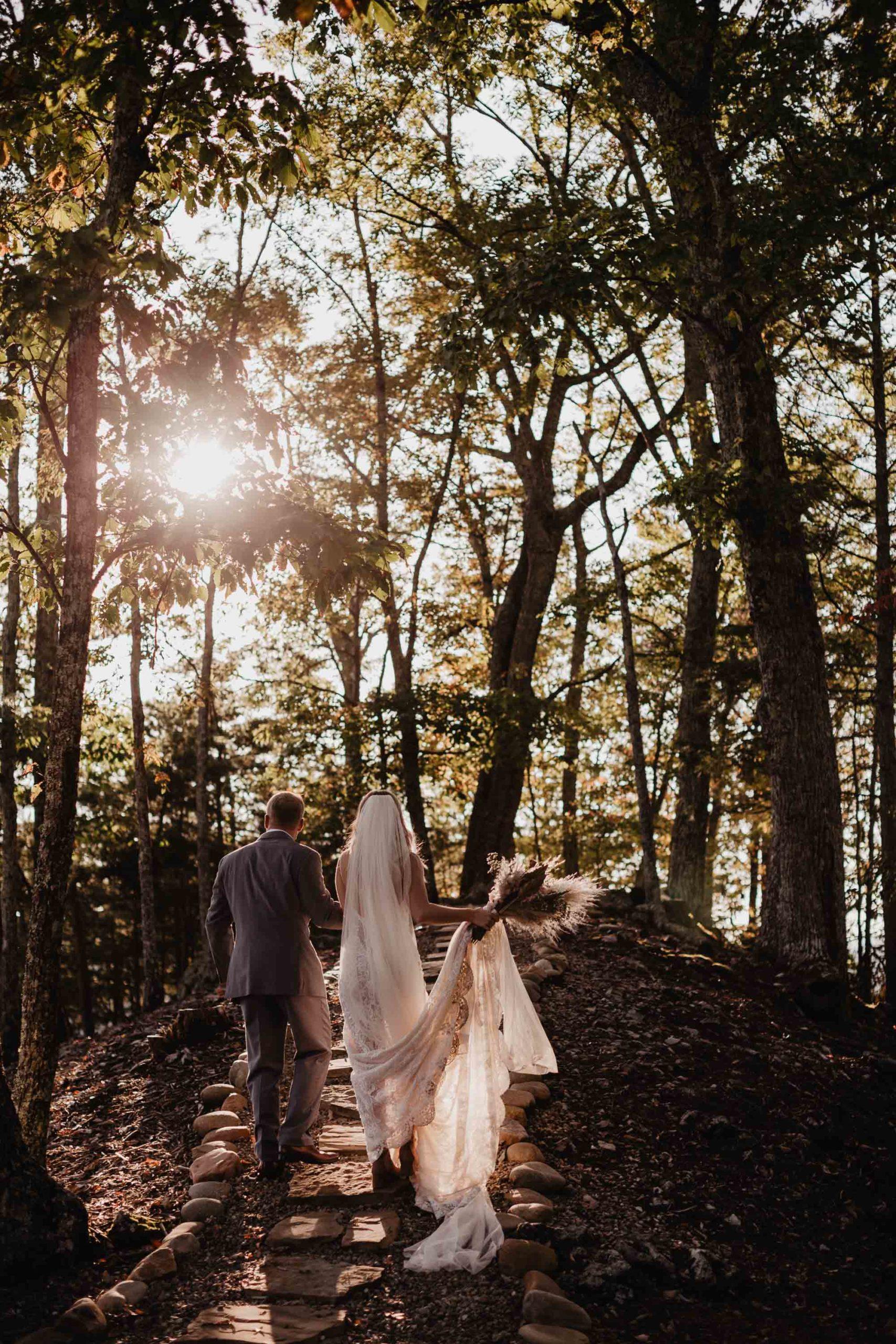 sunset golden hour wedding photos