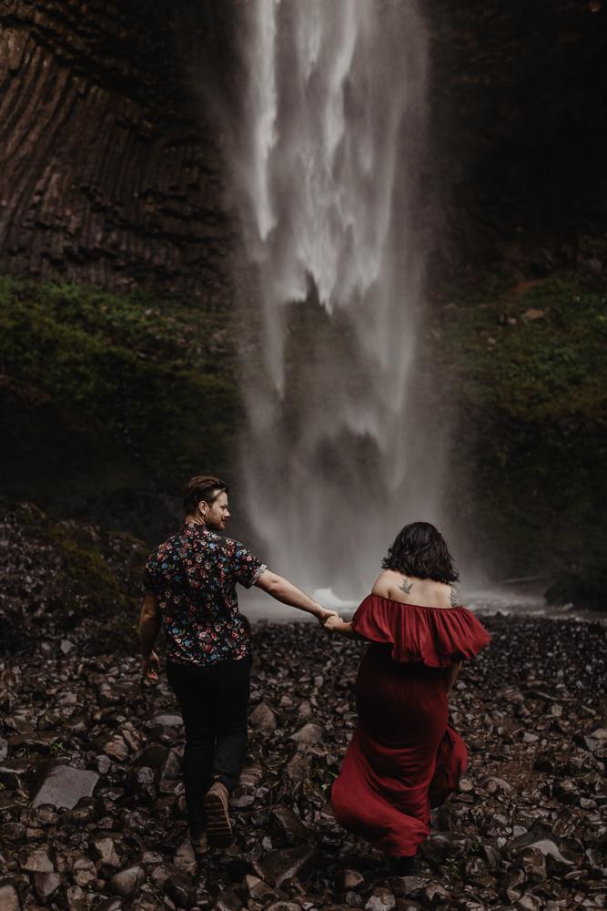 Latourell Falls Engagement Session in Oregon | Adventure Elopement