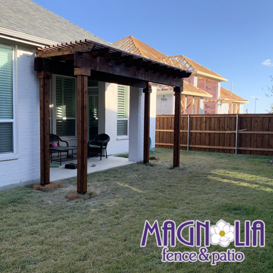 pergola portfolio magnolia fence and