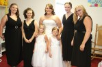 The bridesmaids, me & the flower girls