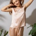silk pajama CREAM