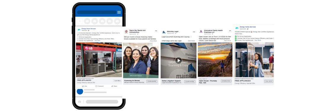 Facebook Posts on a mobile phone