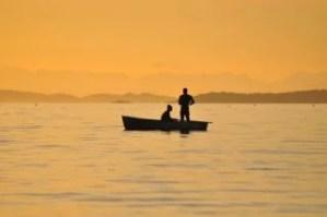 ボートに2人