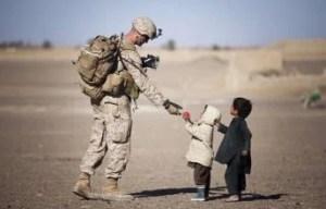 戦士と子供