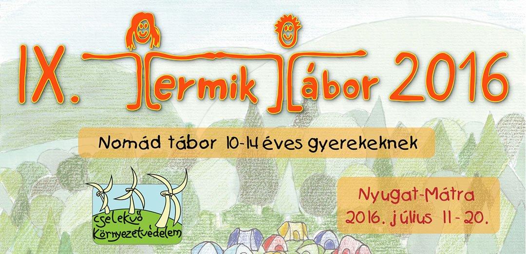 TERMIK Tábor – 2016-ban is!