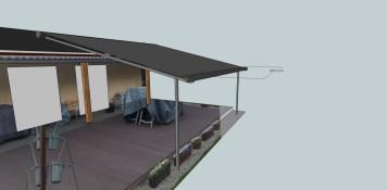 pergola rolowana osadzana na dachu projekt