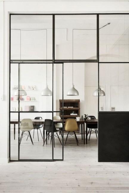 room divide black frame windows