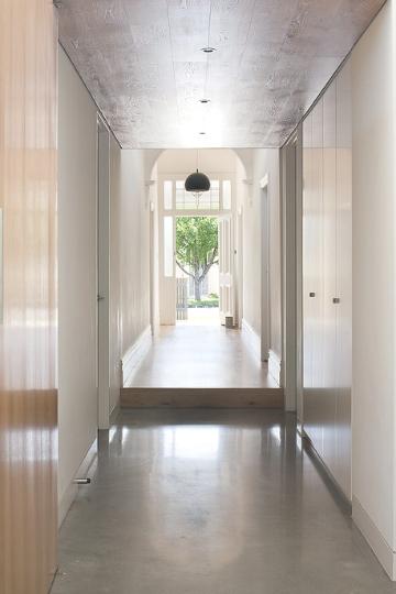 concrete floor corridor