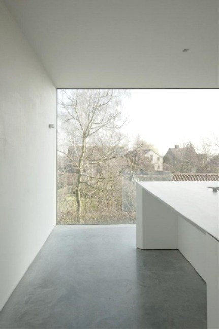 concrete room with a view