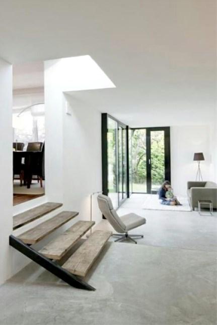 concrete white living room