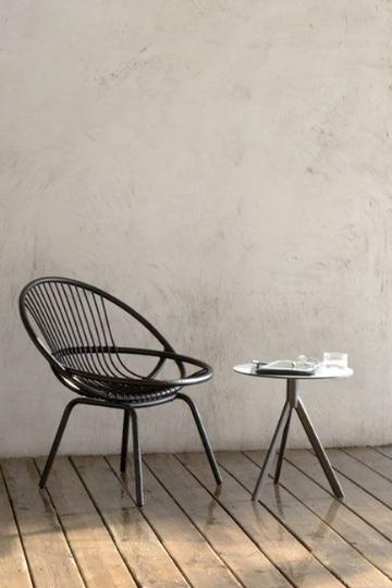rattan radial armchair