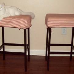 Bar Stool Chair Rung Protectors Mission Style Chairs For Sale Diy Barstool Covers Cat Proof Magpie Jaybird And Mew