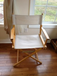 DIY Painted Fabric and Directors Chair Redo | Magpie ...