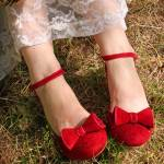 Vintage red shoes by Miss L Fire perfect for a wedding