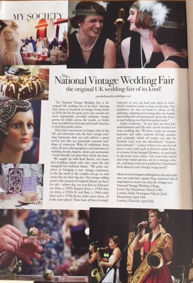 Nationaal Vintage Wedding Fair in Vintage Life magazine