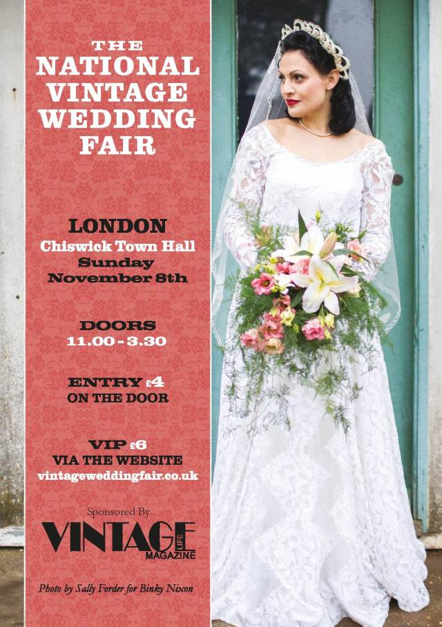 London National Vintage Wedding Fair poster for London 2015