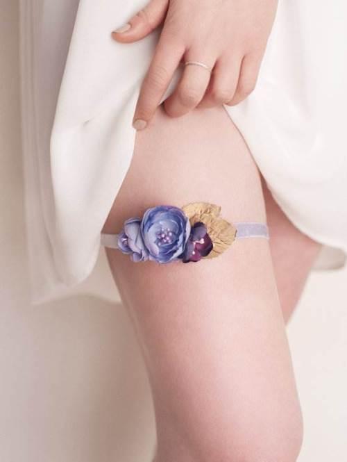 Silk flower garter via LovLovAtelier