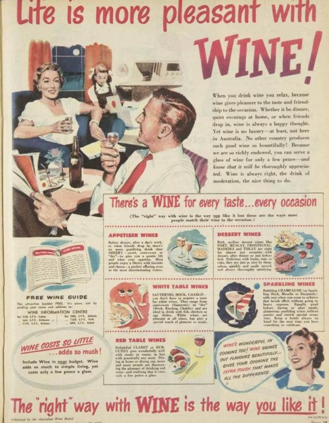 Vintage wine advert poster from the National Vintage Wedding Fair