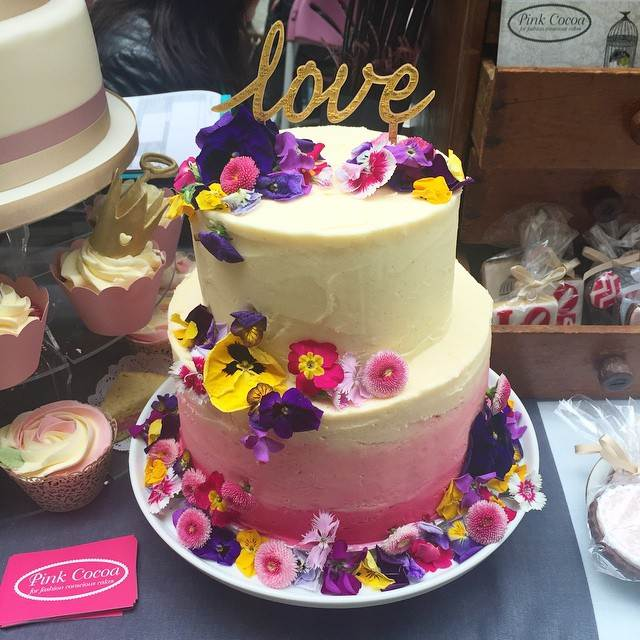 Wedding Cake by Pink Cocoa as shown at the National Vintage Wedding Fair