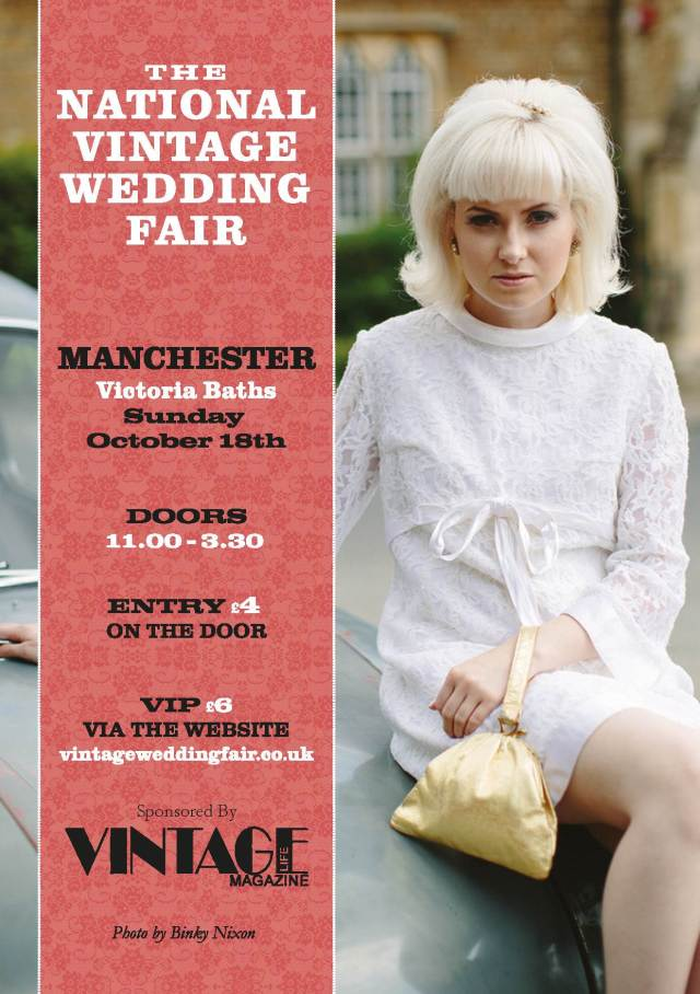 The National Vintage Wedding Fair poster for Manchester 2015