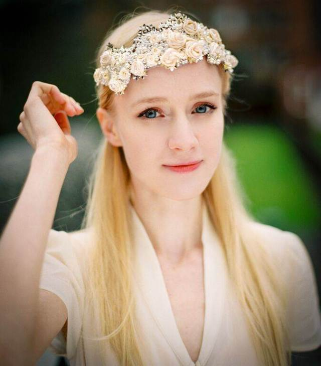 vintage wedding head piece by Peony and Mockingbird  as featured on The National Vintage Wedding Fair blog