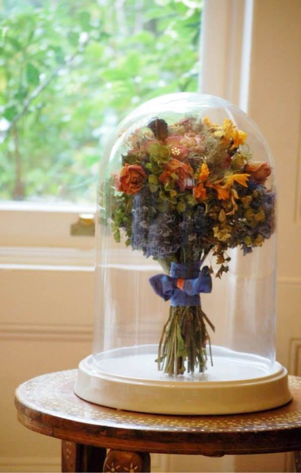 Save My Bouquet dried flower domes as featured on National Vintage Wedding Fair blog
