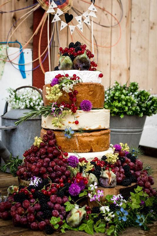The Well Being Farm, a rustic venue in Lancashire as featured on the National Vintage Wedding Fair blog Cheese Cake