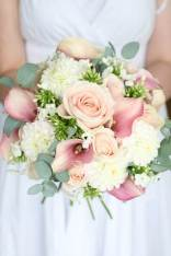 Wedding flowers bouquet by Liberty Blooms as featured on The National Vintage Wedding Fair blog