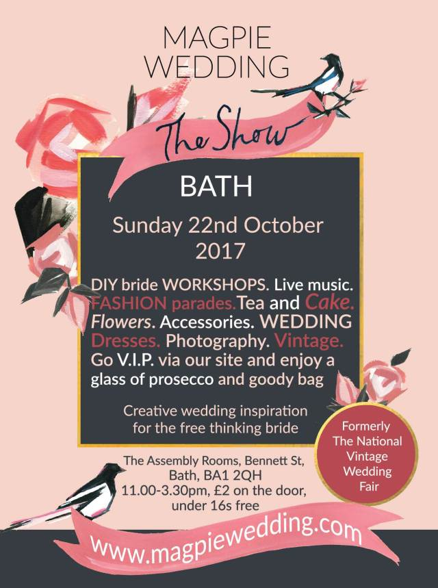 Bath October 2017 flyer for Magpie Wedding
