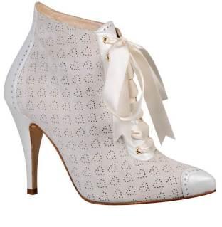 Edwardian style wedding bridal boots shoes by Love Art Wear Art