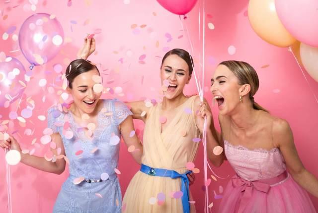 Pastel wedding dresses for the bride or even the bridesmaid by Katya Katya Shehurina
