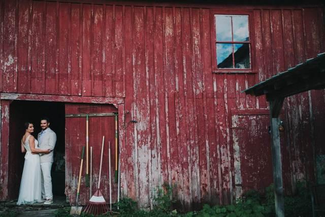A rustic, home grown, garden party, back yard wedding