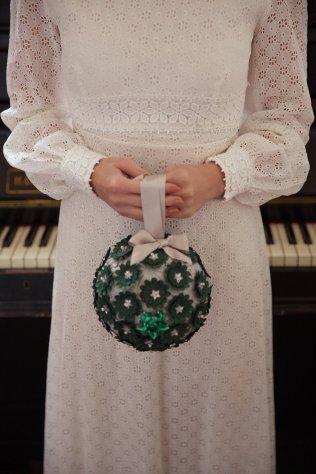 1960s Christmas wedding inspiration with pom poms & baubles galore!
