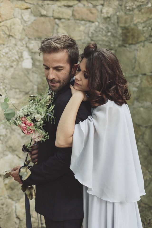 An Italian elopement styled shoot with moody romantic blush tones