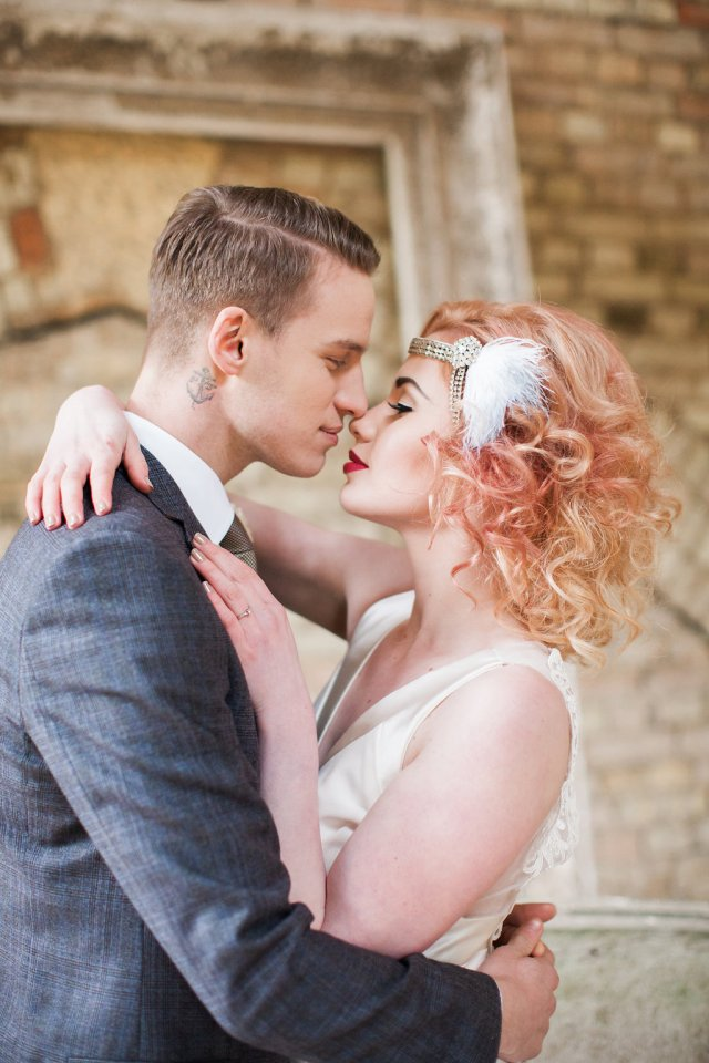 Modern 1920's Wedding Inspiration with Luxe Art Deco Vibes