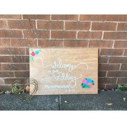 Personalised Wooden board - Wedding Welcome