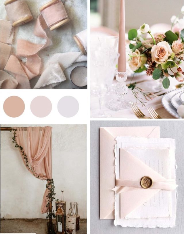 Blush Colour Wedding Mood Board